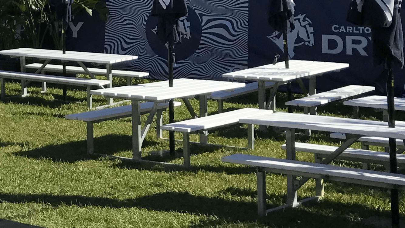 Astonishing White Picnic Tables Event Box Productions Australia Pdpeps Interior Chair Design Pdpepsorg